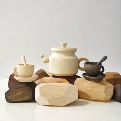 A set of dishes Coffee