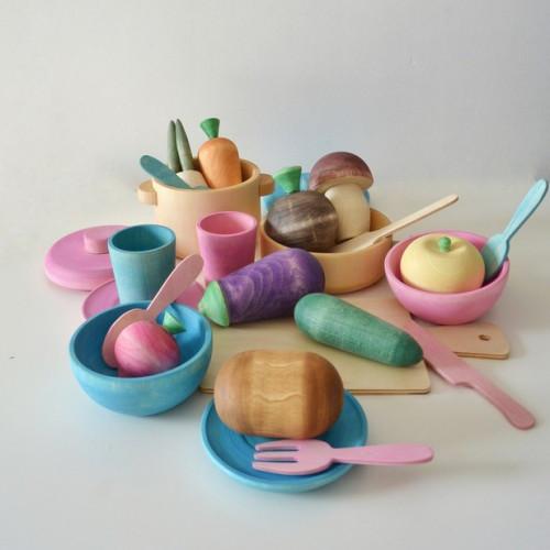 Xmas Wooden tea set