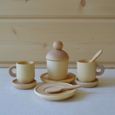 Wooden tea party