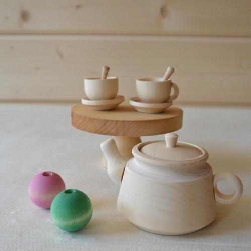 Wooden dish Tea set