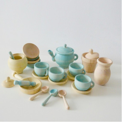 Wooden Toy Dishes