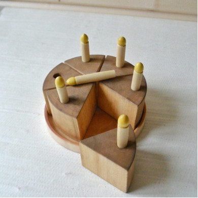 wood toy cake