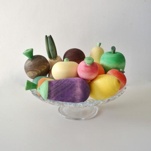 Large set of wooden food Fruits and Vegetables