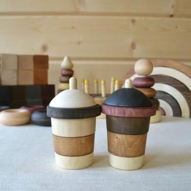 Wood toy sorter