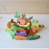 Wooden set of 17 fruits and vegetables