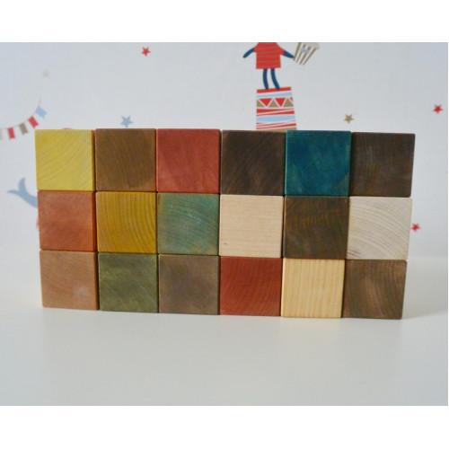 Wooden natural blocks for Kids
